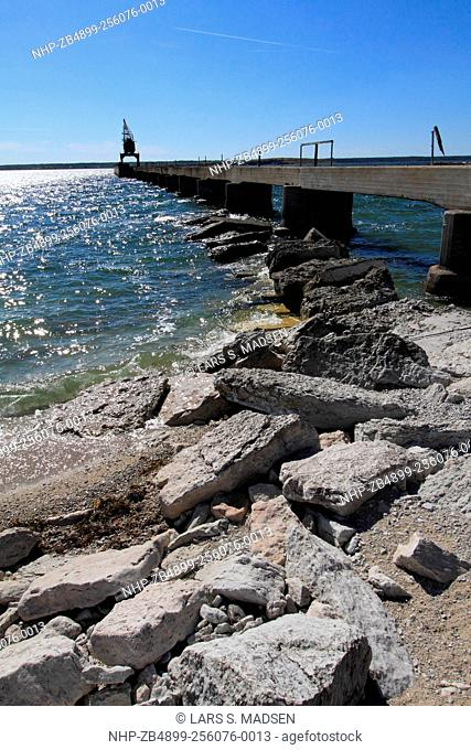 The old pier at Furillen, an island off the northern part of Gotland which is the largest island in Sweden and in the Baltic Sea