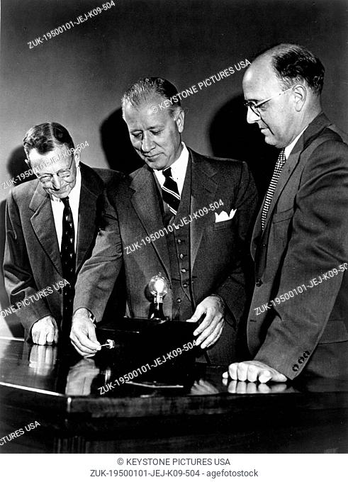 Jan 01, 1950 - File Photo: circa 1950s, location unknown. RALPH J. CORDINER was Chairman & CEO of General Electric from 1958 to 1963