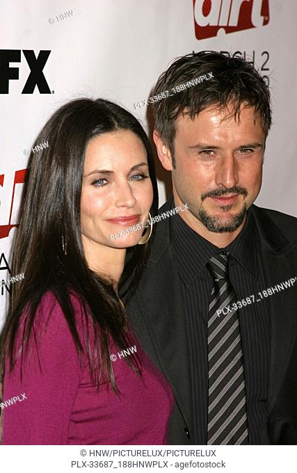 "Courteney Cox, David Arquette 02/28/08 """" Season Two Premiere Screening of Dirt Afterparty"""" @ Beso, Hollywood Photo by Megumi Torii/HNW / PictureLux (February..."