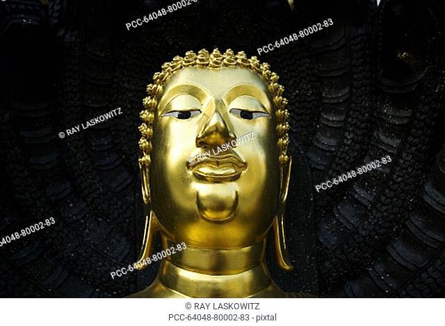 Thailand, Bangkok, Wat Traimit, World's largest golden Buddha