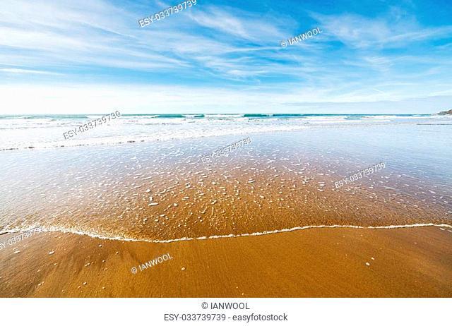 Beach at Sandymouth near bude Cornwall England UK Europe