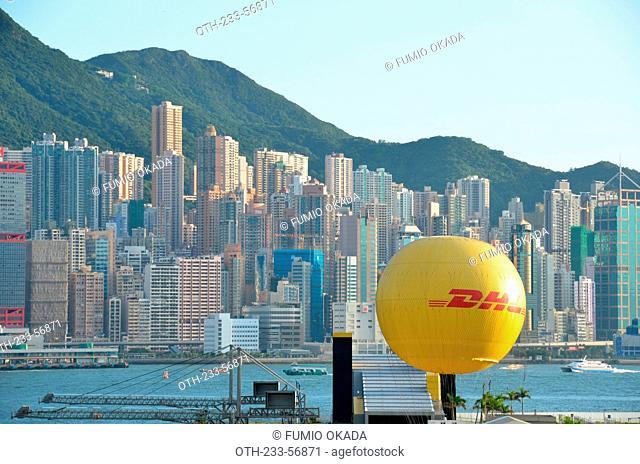 Sheung Wan skyline from Kowloon west, Hong Kong