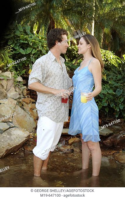Couple in a resort