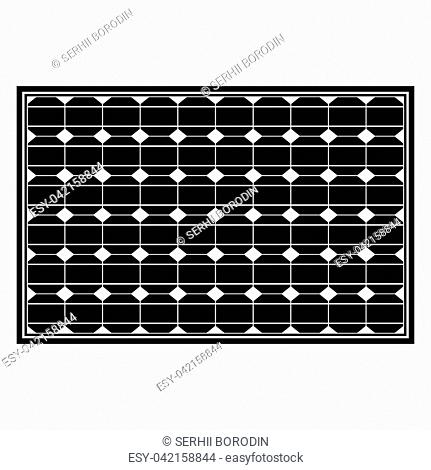 Solar panel it is the black color icon