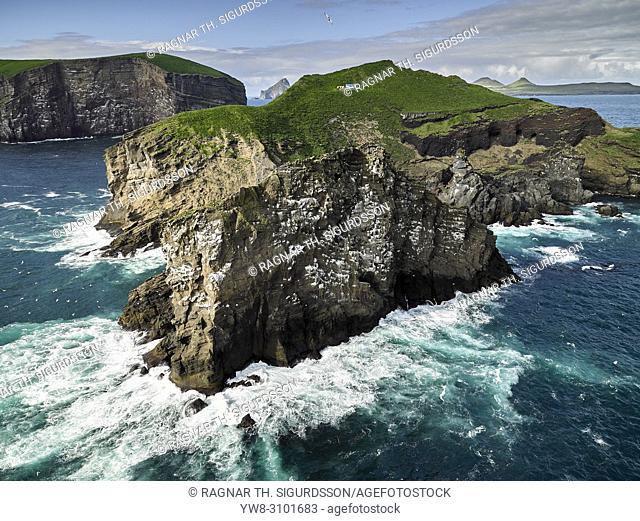 Bjarnarey Island, Westman Islands, Iceland