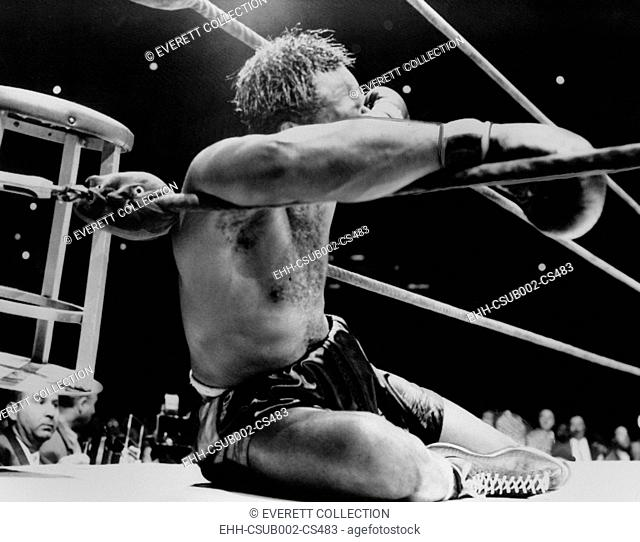 Archie Moore knocked out by Heavyweight Champion Rocky Marciano, Sept. 21, 1955. It was the 9th round of their title fight at Yankee Stadium, New York City