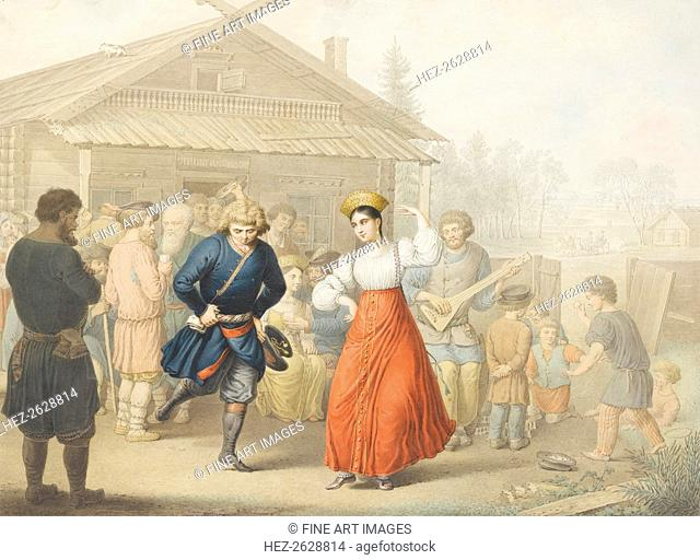Merry-making Outside a Tavern. Artist: Opiz, Georg Emanuel (1775-1841)