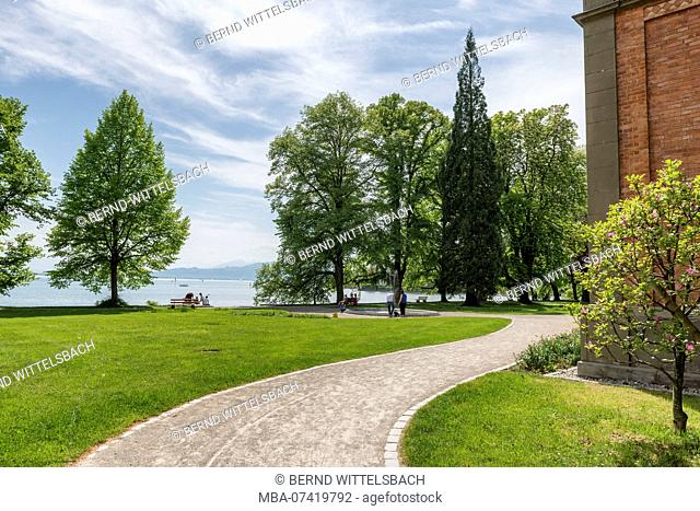 Lindau, Bavaria, Germany, Tuscan Park on the island of Lindau