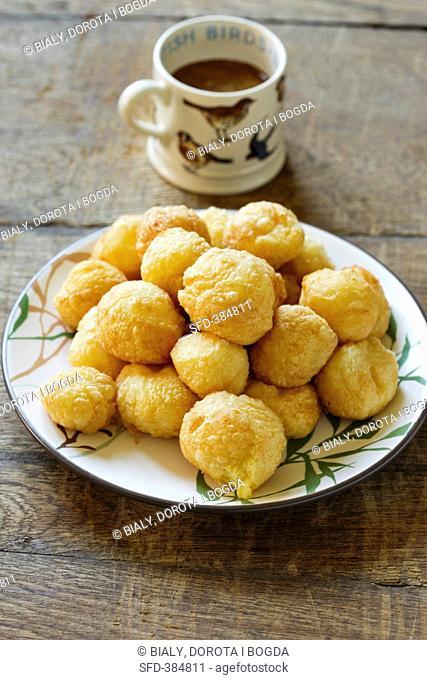 Dauphine potaotes on a plate
