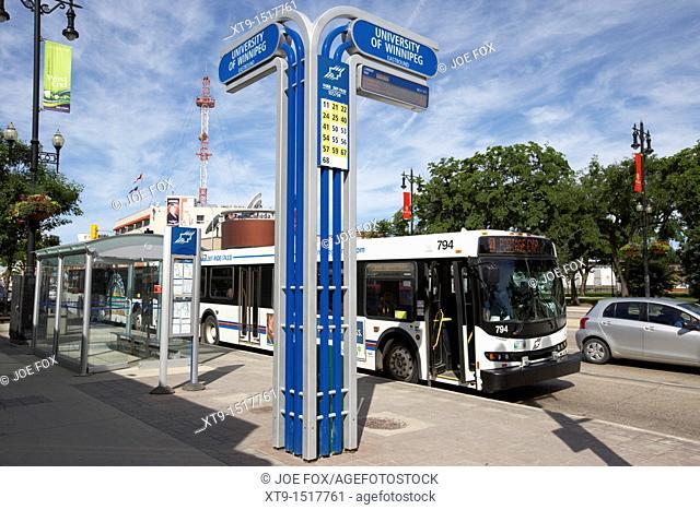 university of winnipeg bus stop manitoba canada