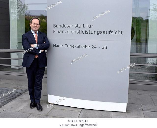 Germany, Frankfurt, 12.05.2015 Felix Hufeld, President of BaFin, before the annual press conference. - Frankfurt, Germany, 12/05/2015