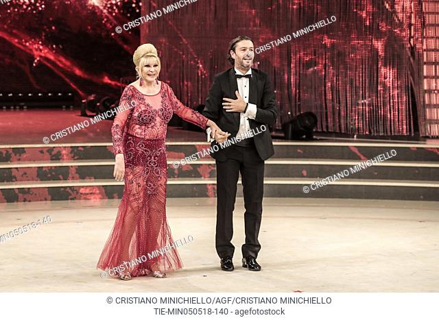 Ivana Trump, husband Rossano Rubicondi during the tv show Dancing with the stars, Rome, ITALY-05-05-2018