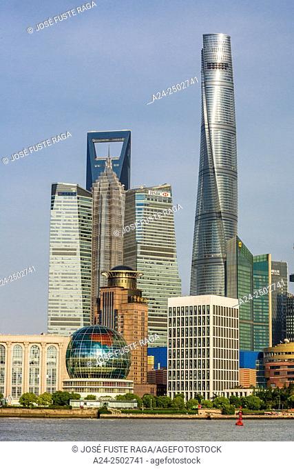 China, Shanghai City, Jinmao , World Financial Center and Shanghai Towers