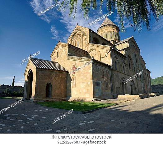 Pictures & images of the exterior of the Eastern Orthodox Georgian Svetitskhoveli Cathedral (Cathedral of the Living Pillar) , Mtskheta, Georgia (country)