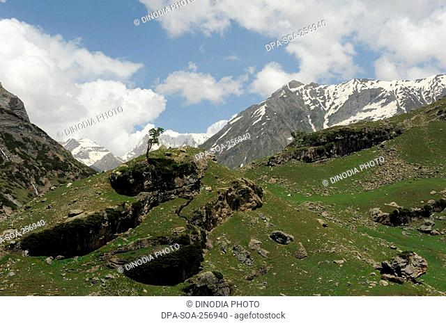 Mountain, amarnath yatra, jammu Kashmir, india, asia