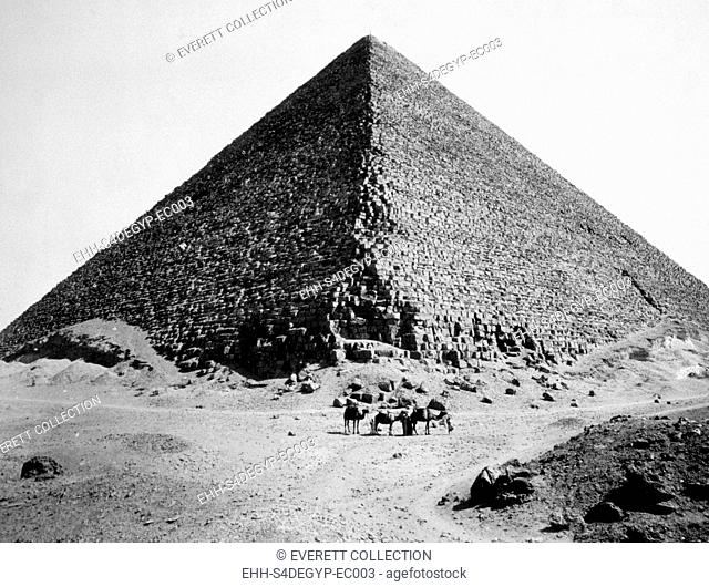 The Pyramid of Cheops, photograph by G. Lekegian ca. 1880