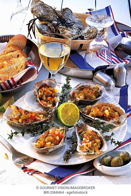 Baked oysters, France