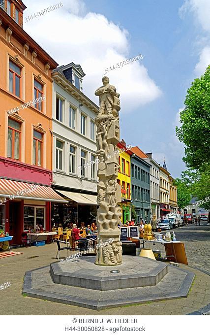 Flea market, column, Ghent Belgium
