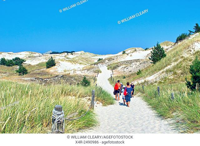 The sand dunes of the Slowinski National Park, a UNESCO protected national park on Baltic Coast, Poland