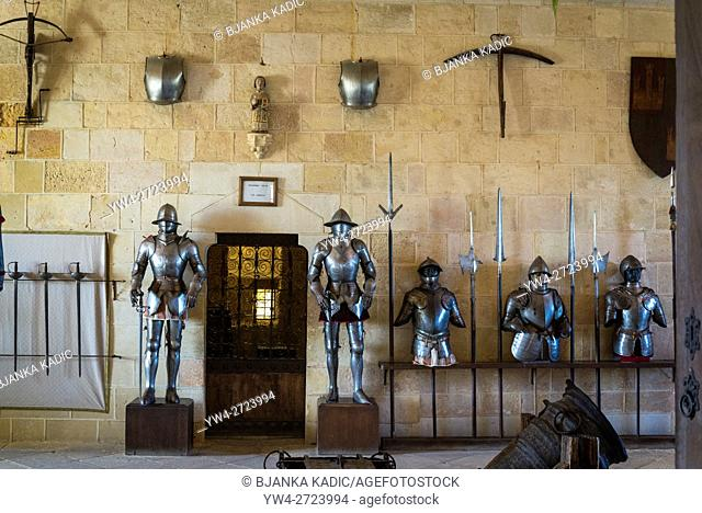 Armoury Room, Alcazar medieval castle, Segovia, Castilla y Leon, Spain