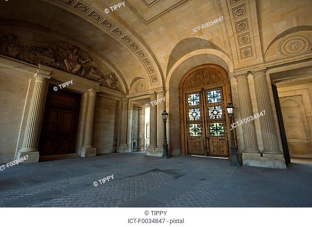 France, Paris, Louvre, east entrance