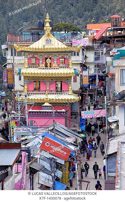 Stupa in Jogibara Rd,McLeod Ganj, Dharamsala, Himachal Pradesh state, India, Asia