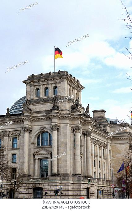 Reichstag, seat of the German Parliament, Berlin, Germany, Europe