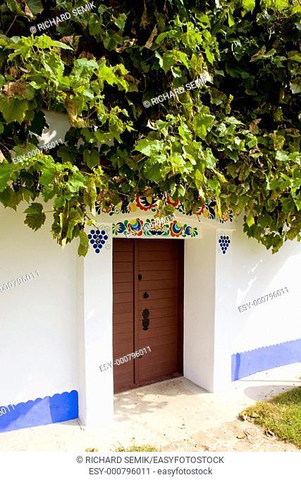 detail of folk wine cellar, Blatnice pod svatym Antoninkem, Czech Republic