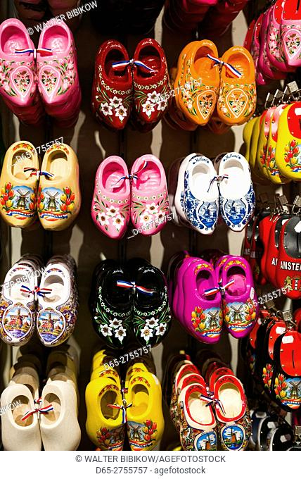 Netherlands, Amsterdam, souvenir Dutch wooden shoes