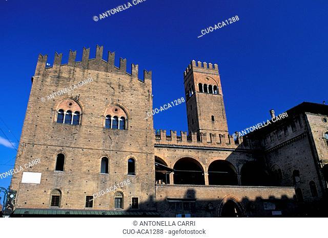 Re Enzo palace, Bologna, Emilia Romagna, Italy