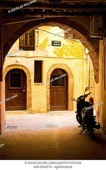 a street in Chania, Crete, Greece