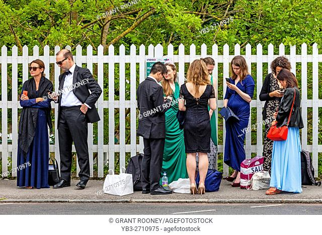 Young Opera Fans Arrive At Lewes Station En Route To Glyndebourne Opera House For An Under 30's Performance Of Le Nozze Di Figaro, Lewes, Sussex, UK