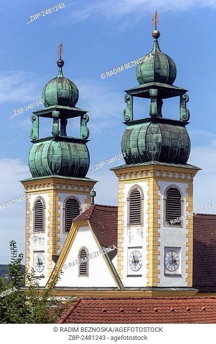 Pilgrimage Church Monastery St. Mariahilf, Passau, Lower Bavaria, Germany