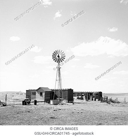 Freight Car Home, Box Butte County, Nebraska, USA, Arthur Rothstein for Farm Security Administration (FSA), May 1936