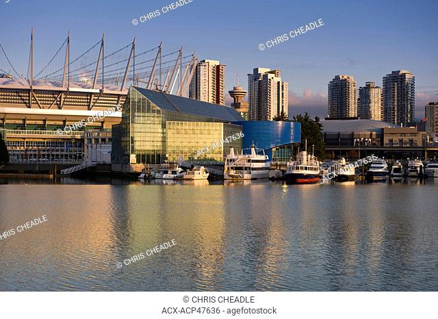 BC Place Stadium and the Plaza of Nations Site, False Creek, Vancouver, British Columbia, Canada