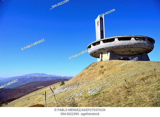 Buzludja monument, near Shipka mountain pass, Bulgaria