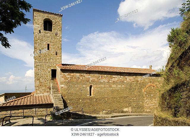 europe, italy, tuscany, buriano, medieval church
