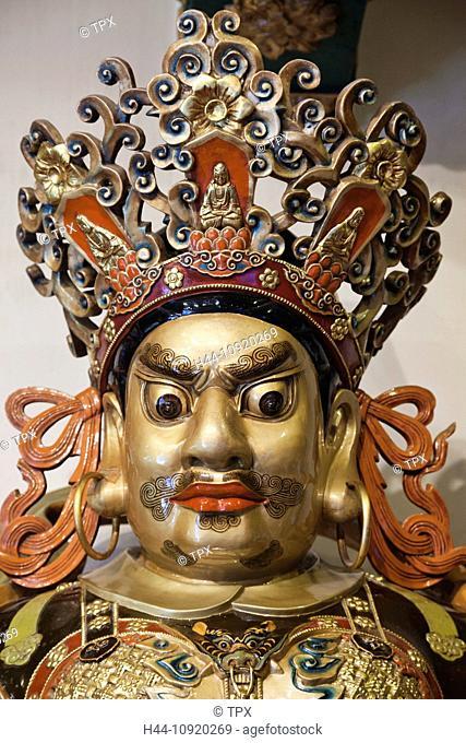 Asia, China, Hong Kong, Lantau, Buddhism, Buddhist, Taoism, Taoist, Religion, Po Lin Monastery, Po Lin, Monastery, Ngong Ping, Chinese Face, Oriental Face