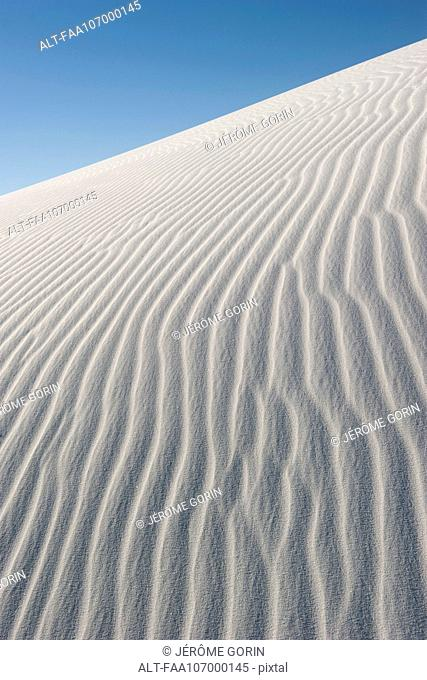 Rippled sand dune, White Sands National Monument, New Mexico, USA