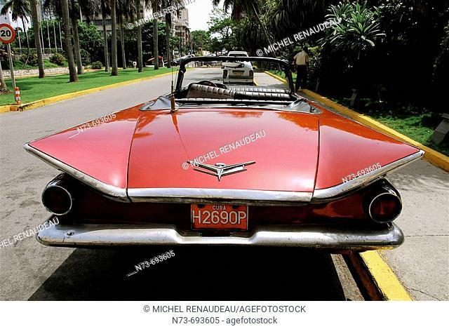 Old car, old Havana. Cuba