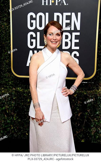 Julianne Moore attends the 76th Annual Golden Globe Awards at the Beverly Hilton in Beverly Hills, CA on Sunday, January 6, 2019