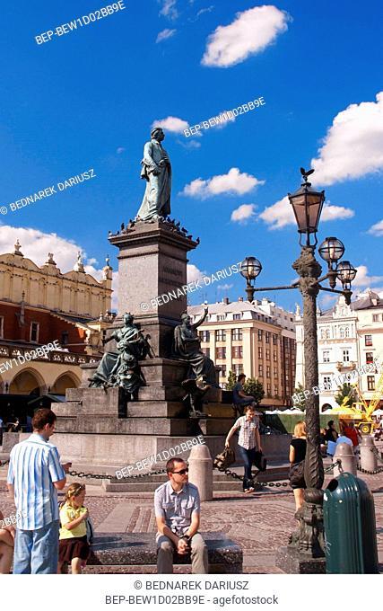 Adam Mickiewicz Monument. Cracow, Lesser Poland Voivodeship, Poland