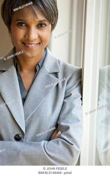 Smiling Native American businesswoman