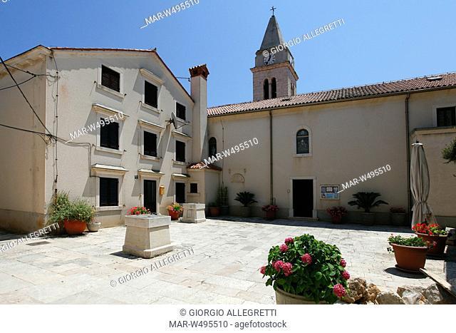 abbazia di s.michele, susak sansego, isola di susak sansego, croazia, europa