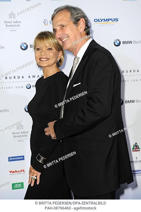 Actress Uschi Glas and her husband Dieter Hermann .arrive at the Felix Burda Award ceremony at Hotel Adlon, Berlin, 14 April 2013