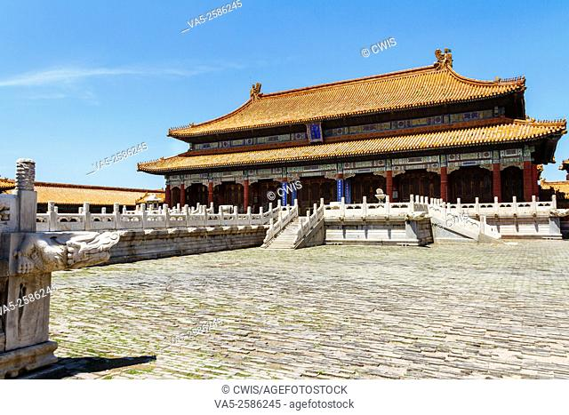 Beijing, China - The view of buildings at Forbidden city in the daytime