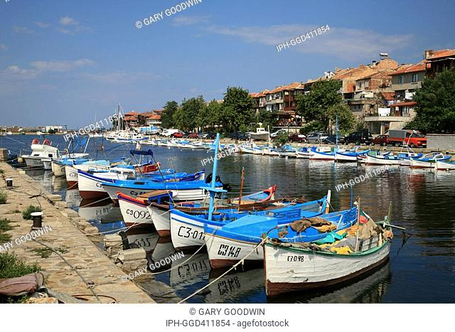 Fishing boat harbour in the old Bulgarian village of Sozopol