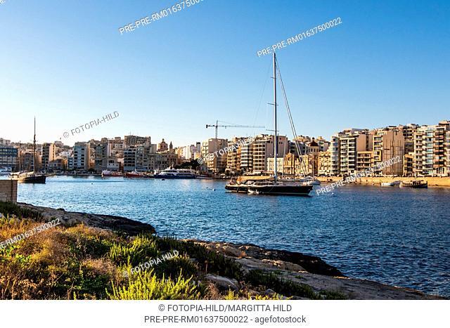 Looking from Manoel Island to Sliema, Malta / Blick von Manoel Island auf Sliema, Malta