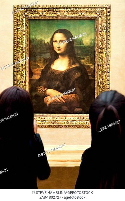 Mona Lisa portrait, Louvre Museum, Paris, France