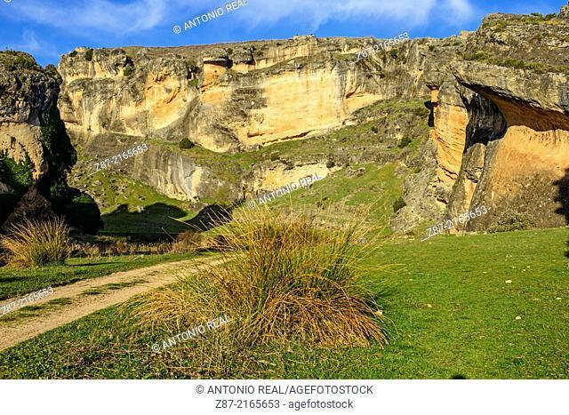 Gorge of river Gritos, Valeria, Cuenca province, Castilla-La Mancha, Spain